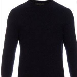 Ermenegildo Zegna BLACK STRETCH COTTON SWEATERS